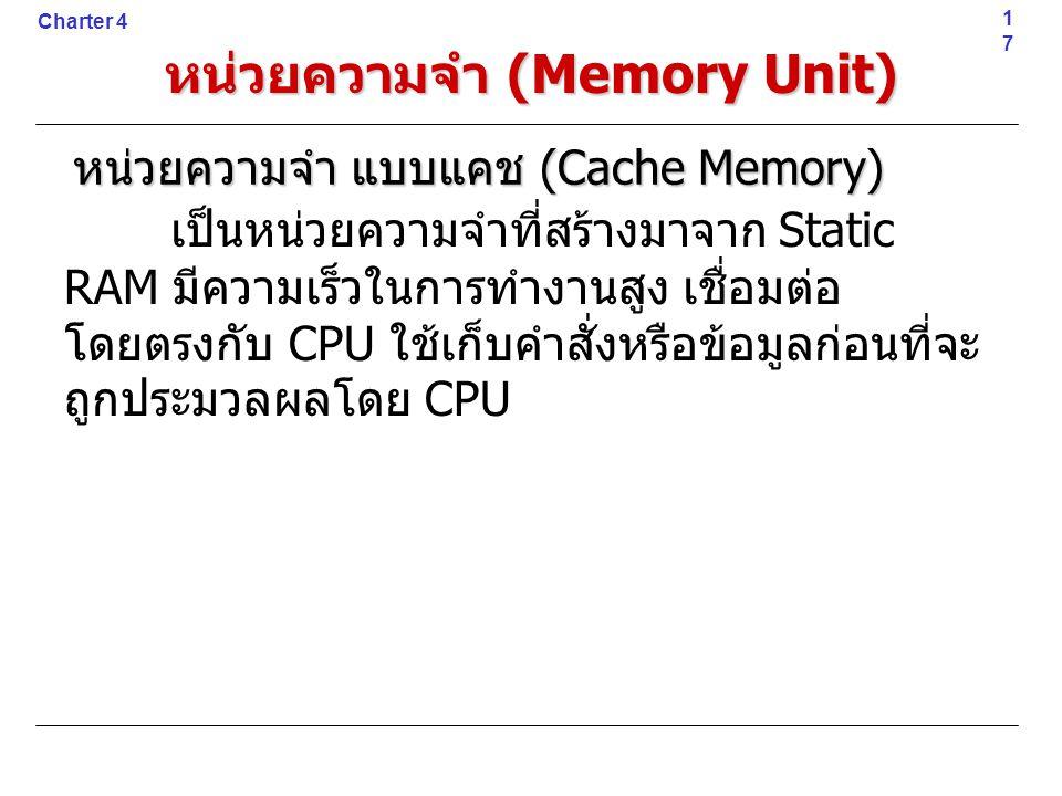 หน่วยความจำ (Memory Unit)