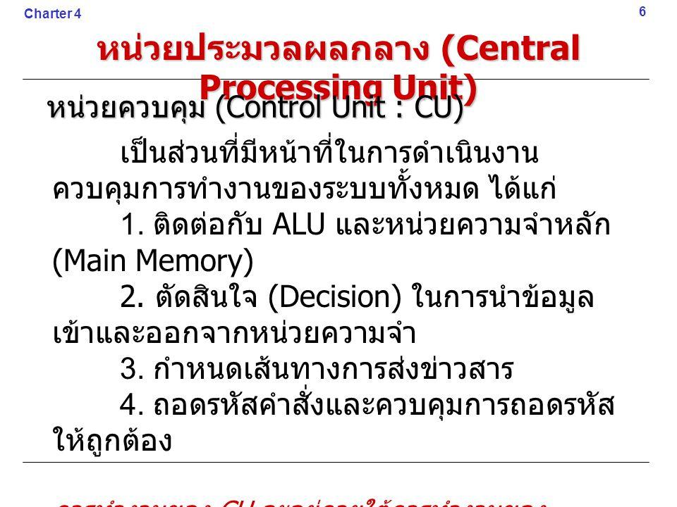 หน่วยประมวลผลกลาง (Central Processing Unit)