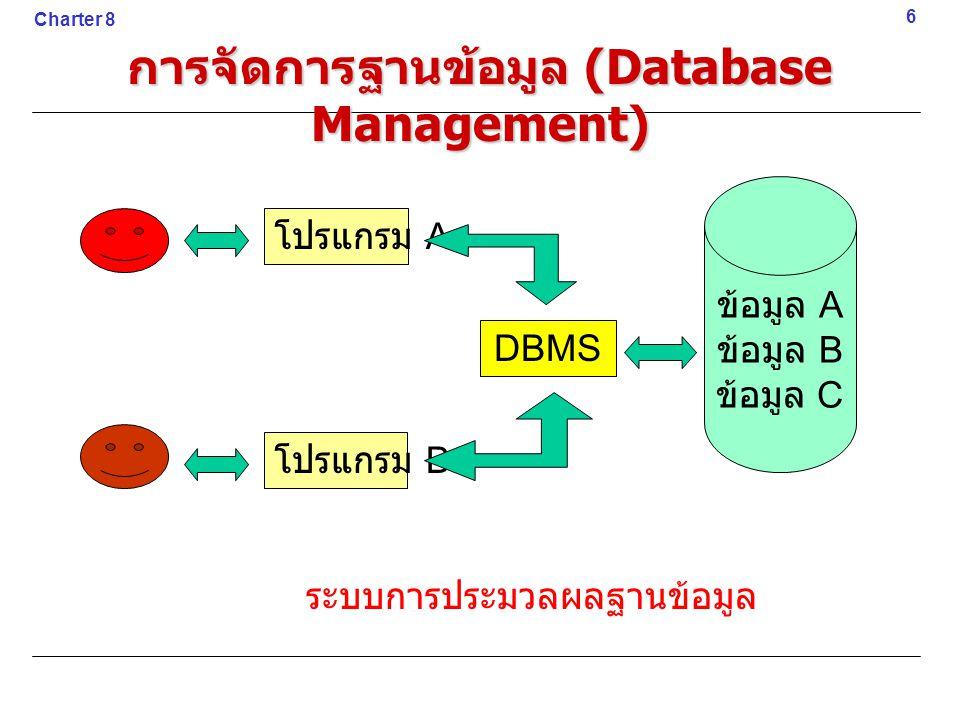 การจัดการฐานข้อมูล (Database Management)