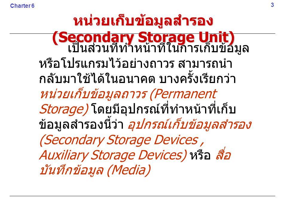 หน่วยเก็บข้อมูลสำรอง (Secondary Storage Unit)
