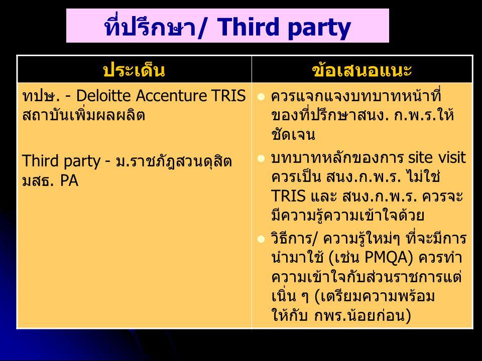 ที่ปรึกษา/ Third party