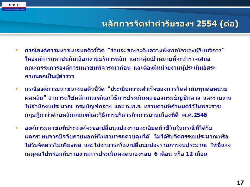 หลักการจัดทำคำรับรองฯ 2554 (ต่อ)