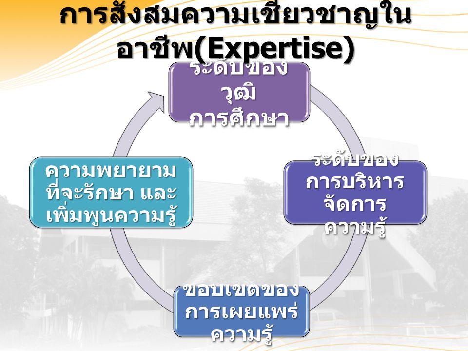 การสั่งสมความเชี่ยวชาญในอาชีพ(Expertise)