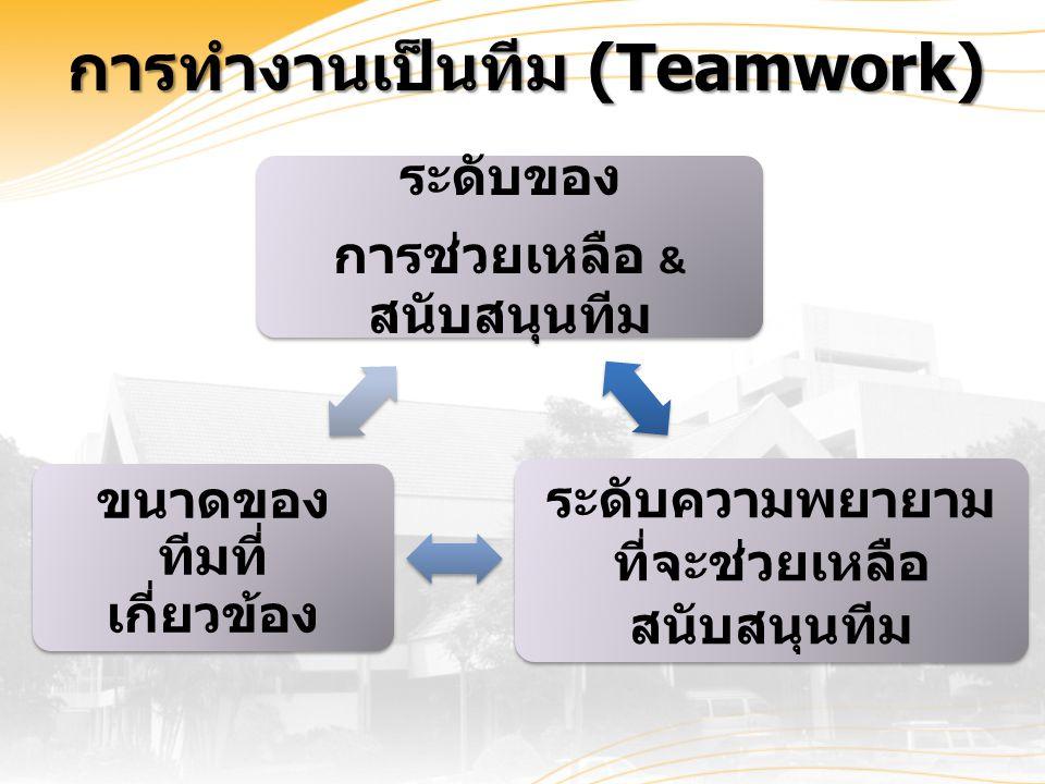 การทำงานเป็นทีม (Teamwork)