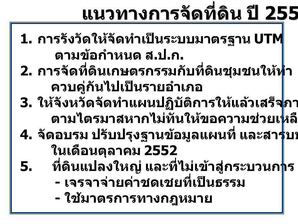 แนวทางการจัดที่ดิน ปี 2553