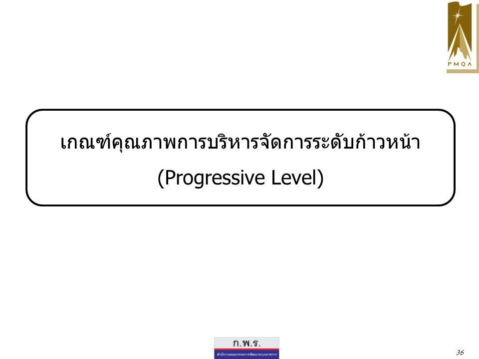 เกณฑ์คุณภาพการบริหารจัดการระดับก้าวหน้า (Progressive Level)