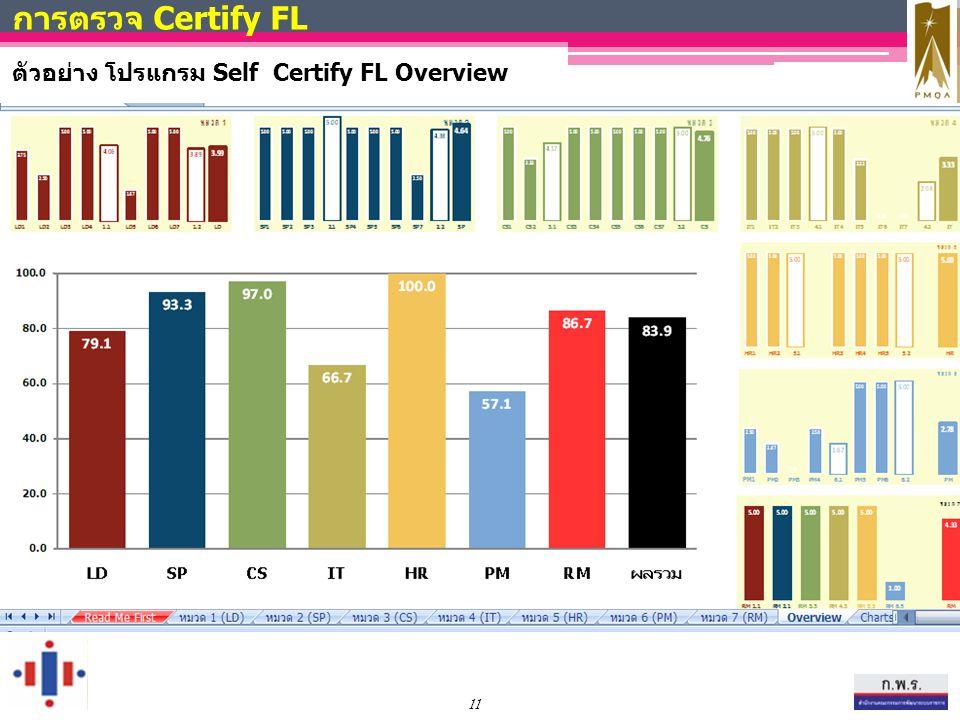 การตรวจ Certify FL ตัวอย่าง โปรแกรม Self Certify FL Overview 11