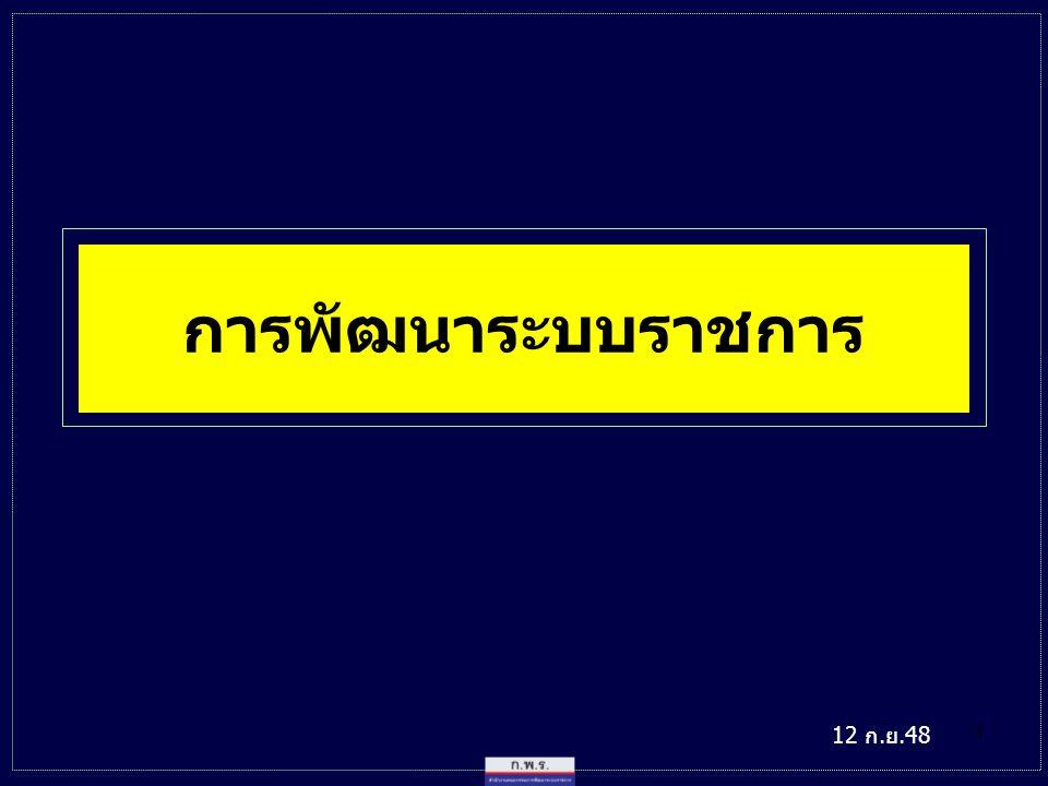 การพัฒนาระบบราชการ 12 ก.ย.48