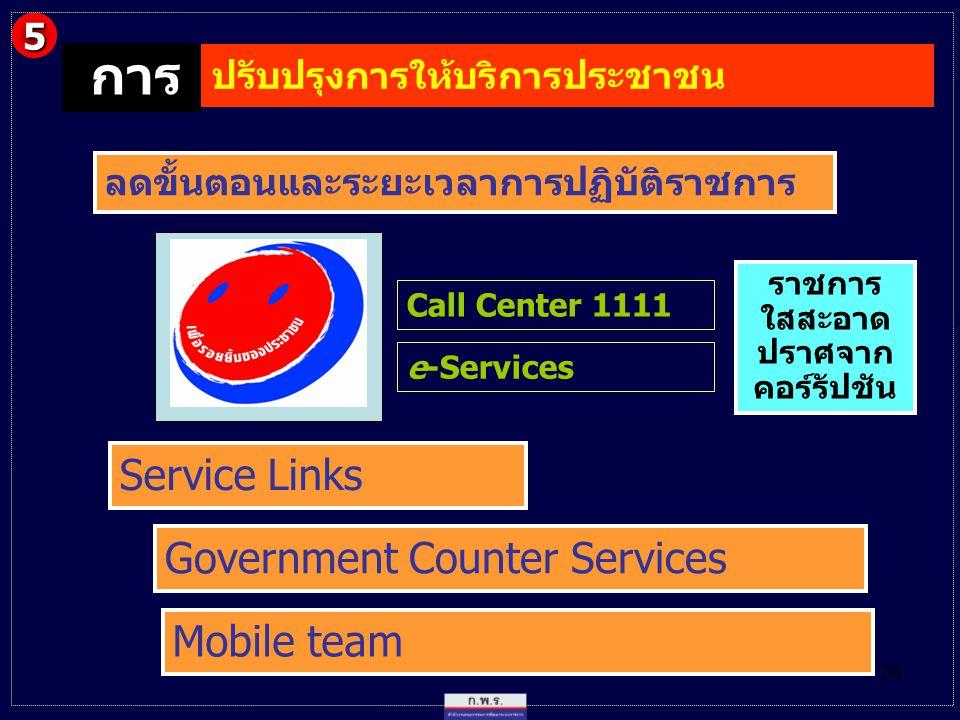 การ Service Links Government Counter Services Mobile team 5