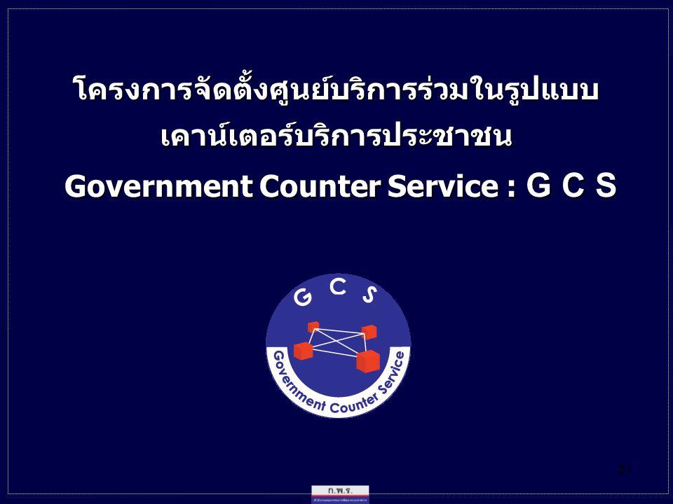 โครงการจัดตั้งศูนย์บริการร่วมในรูปแบบ เคาน์เตอร์บริการประชาชน
