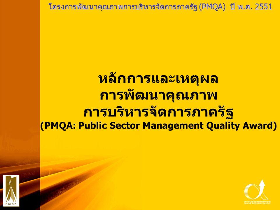 การบริหารจัดการภาครัฐ (PMQA: Public Sector Management Quality Award)