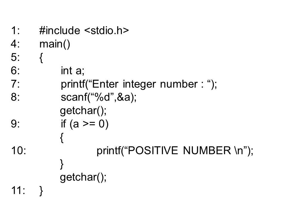 1: #include <stdio.h>