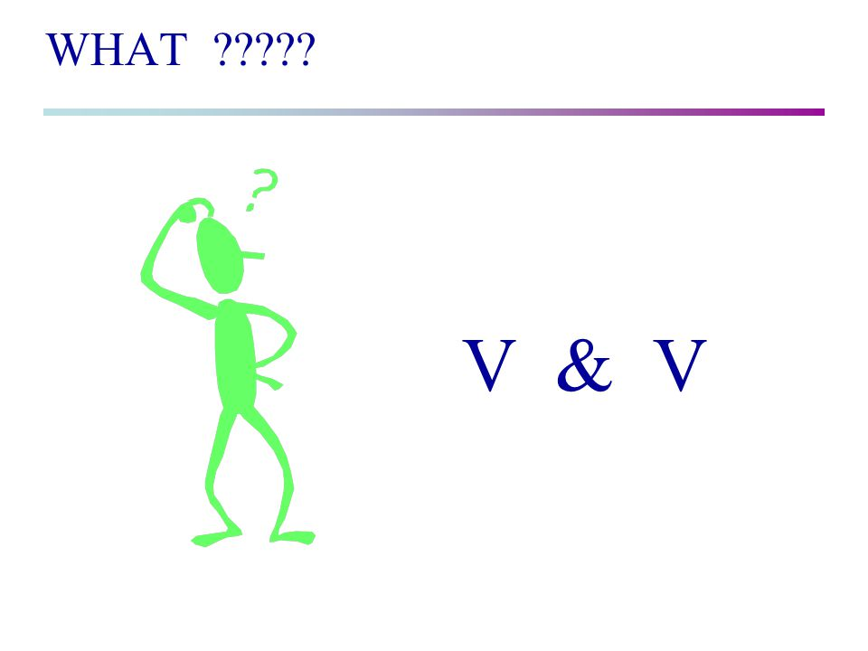 WHAT V & V