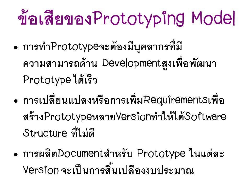 ข้อเสียของPrototyping Model