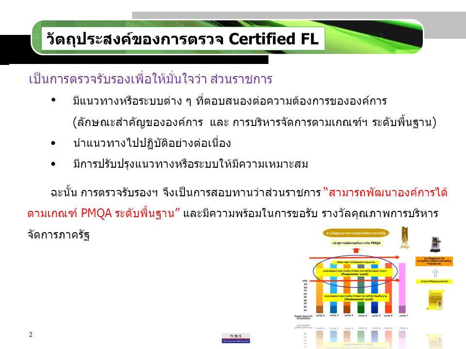 วัตถุประสงค์ของการตรวจ Certified FL