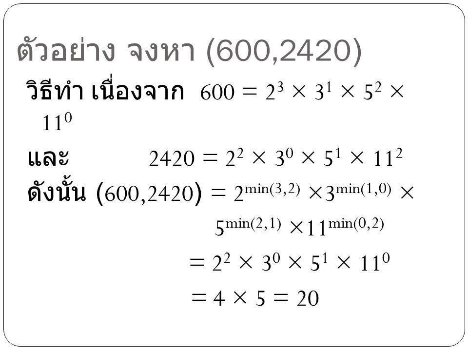 ตัวอย่าง จงหา (600,2420)