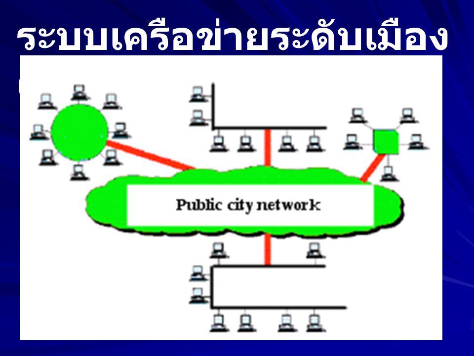 ระบบเครือข่ายระดับเมือง (MAN)