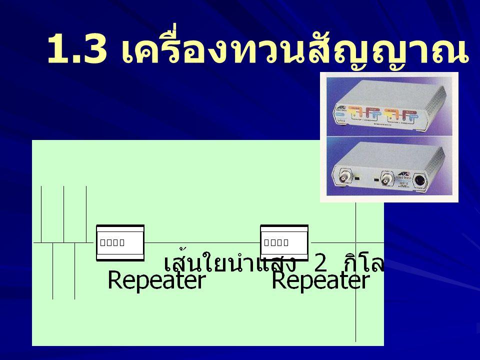 1.3 เครื่องทวนสัญญาณ (Repeater)