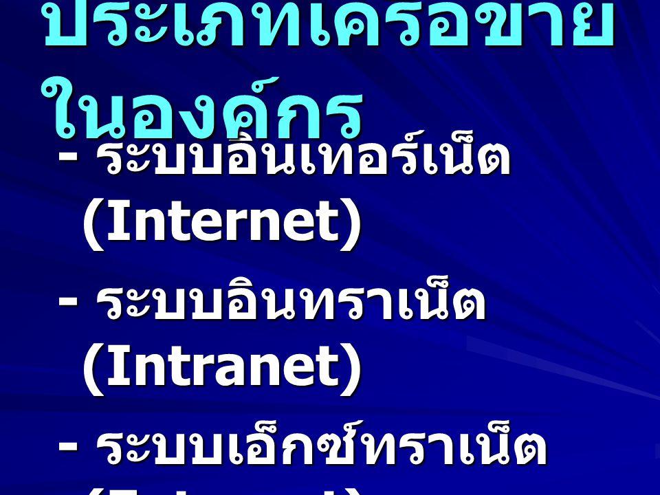 ประเภทเครือข่ายในองค์กร