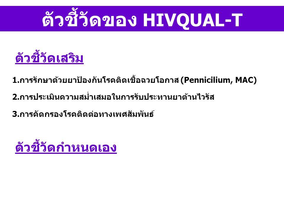 ตัวชี้วัดของ HIVQUAL-T