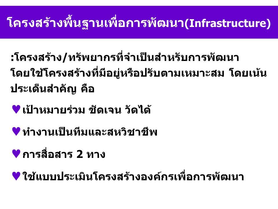 โครงสร้างพื้นฐานเพื่อการพัฒนา(Infrastructure)