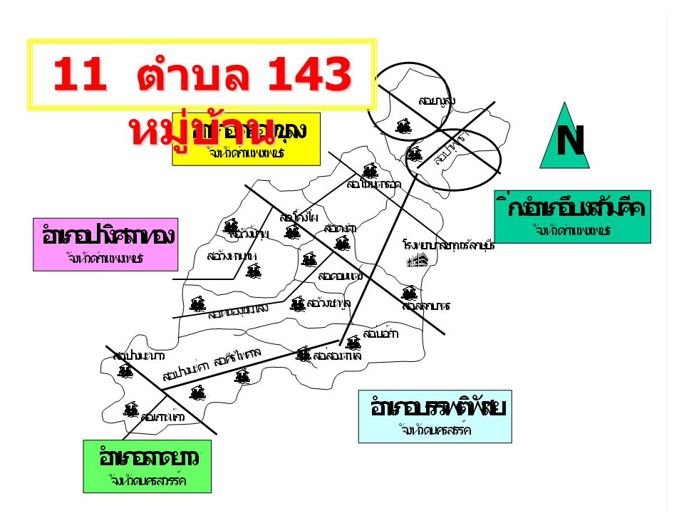 11 ตำบล 143 หมู่บ้าน