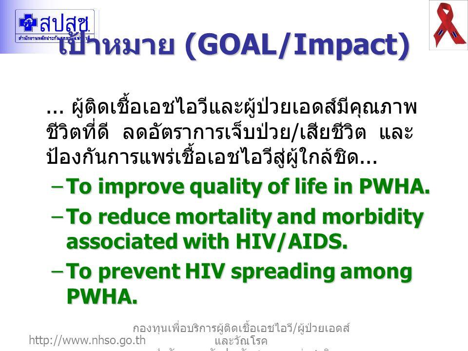 เป้าหมาย (GOAL/Impact)
