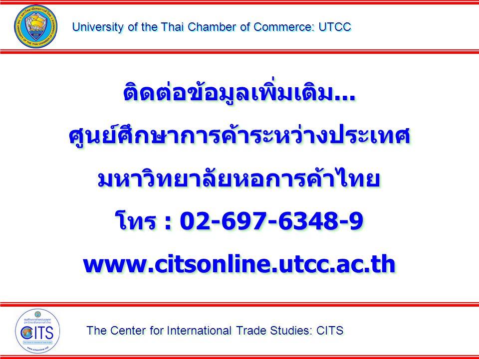 ติดต่อข้อมูลเพิ่มเติม... ศูนย์ศึกษาการค้าระหว่างประเทศ