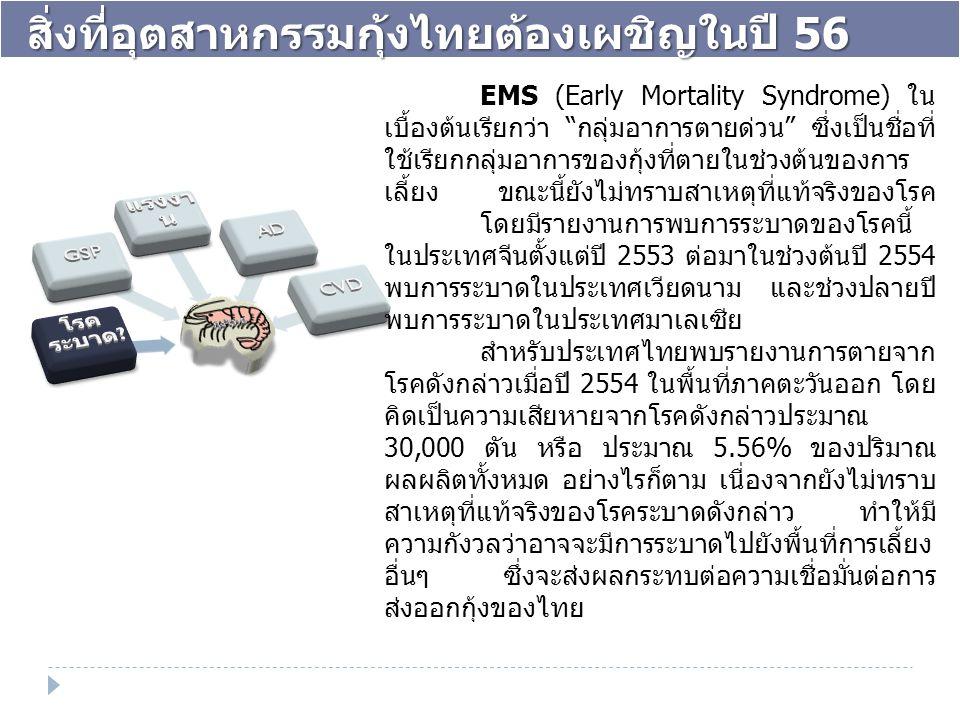 สิ่งที่อุตสาหกรรมกุ้งไทยต้องเผชิญในปี 56