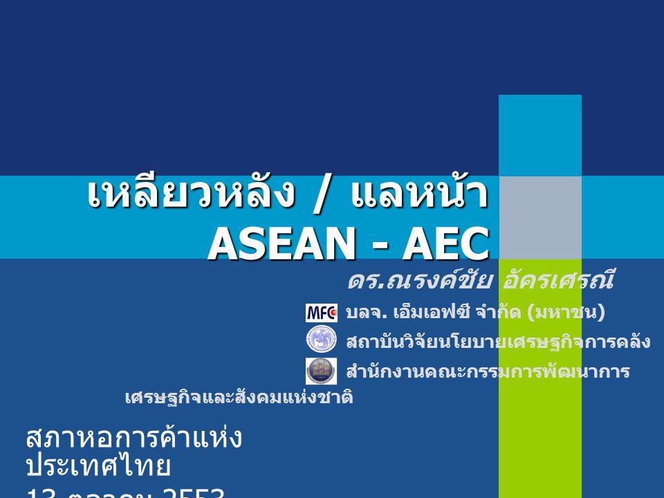 เหลียวหลัง / แลหน้า ASEAN - AEC