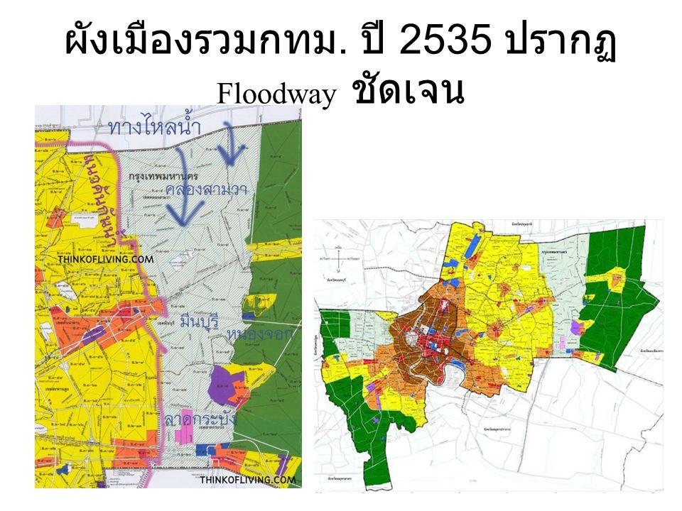 ผังเมืองรวมกทม. ปี 2535 ปรากฏ Floodway ชัดเจน
