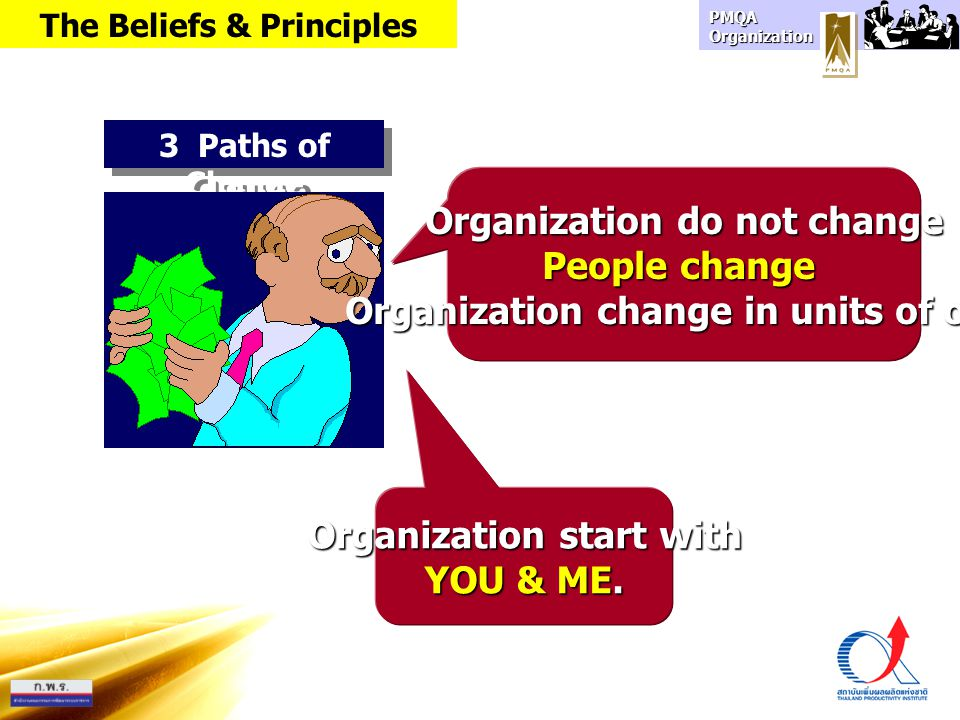 Organization do not change People change