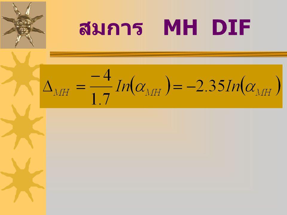 สมการ MH DIF