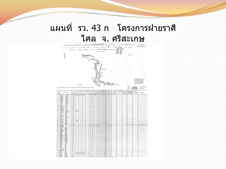 แผนที่ รว. 43 ก โครงการฝายราศีไศล จ. ศรีสะเกษ