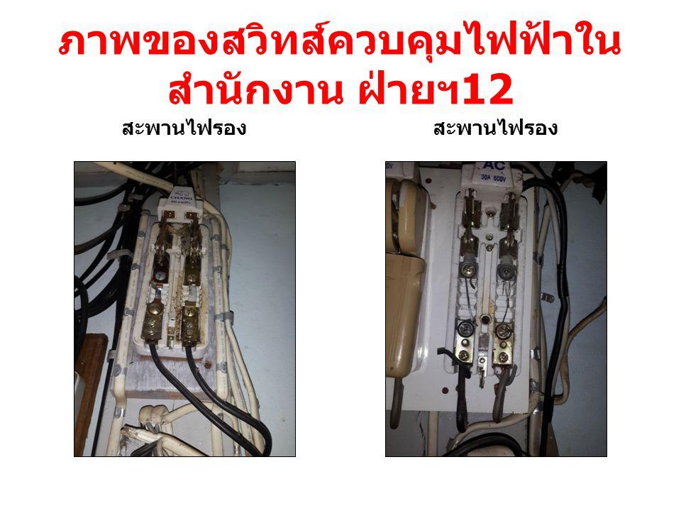 ภาพของสวิทส์ควบคุมไฟฟ้าในสำนักงาน ฝ่ายฯ12