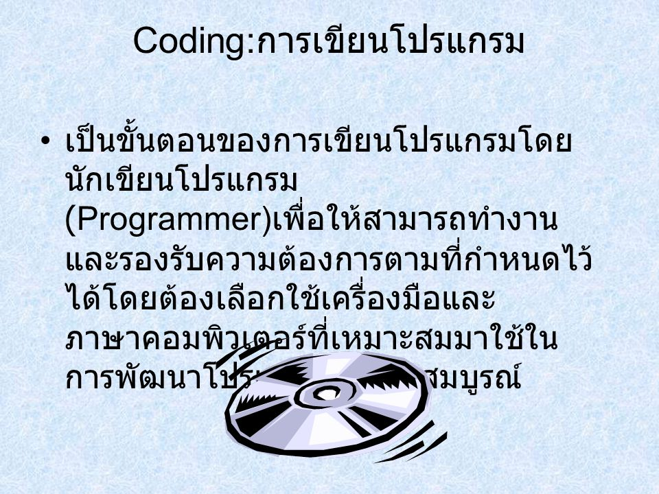 Coding:การเขียนโปรแกรม