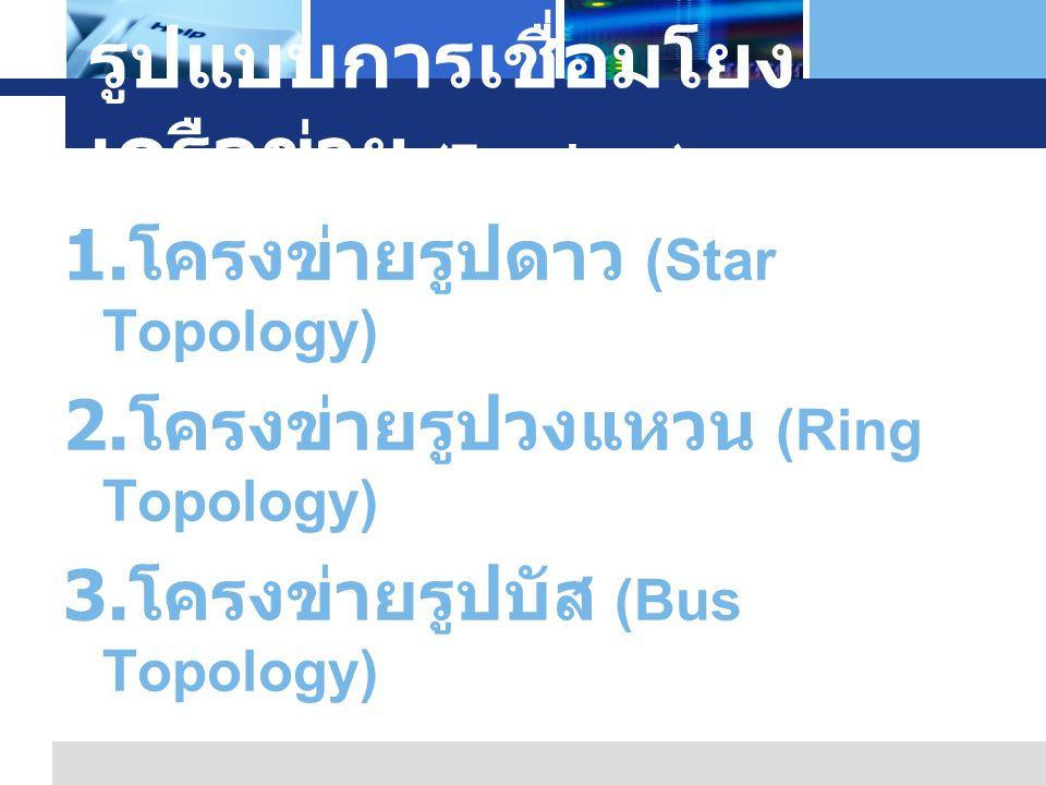 รูปแบบการเชื่อมโยงเครือข่าย (Topology)