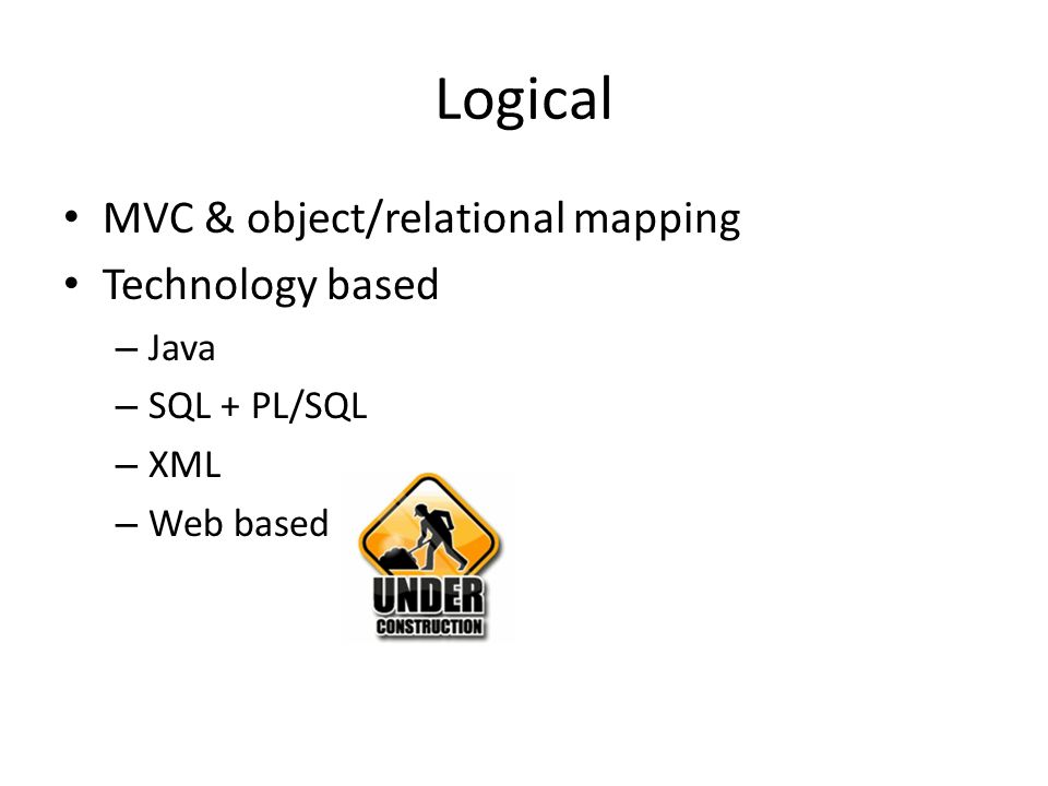 Logical MVC & object/relational mapping Technology based Java