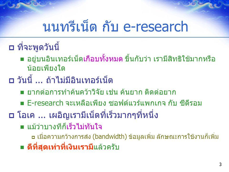 นนทรีเน็ต กับ e-research