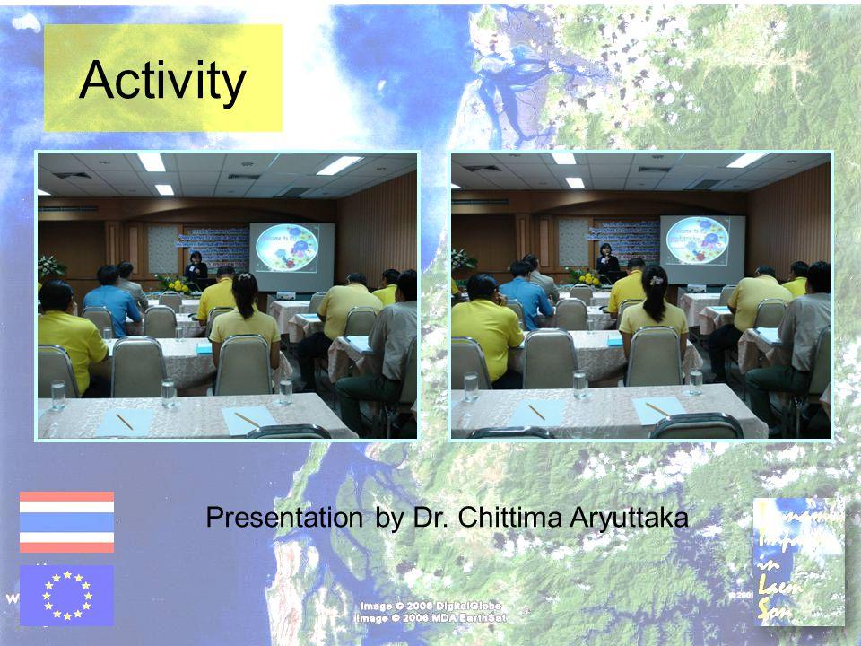 Presentation by Dr. Chittima Aryuttaka