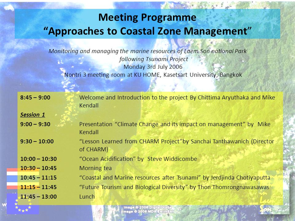 Meeting Programme Approaches to Coastal Zone Management