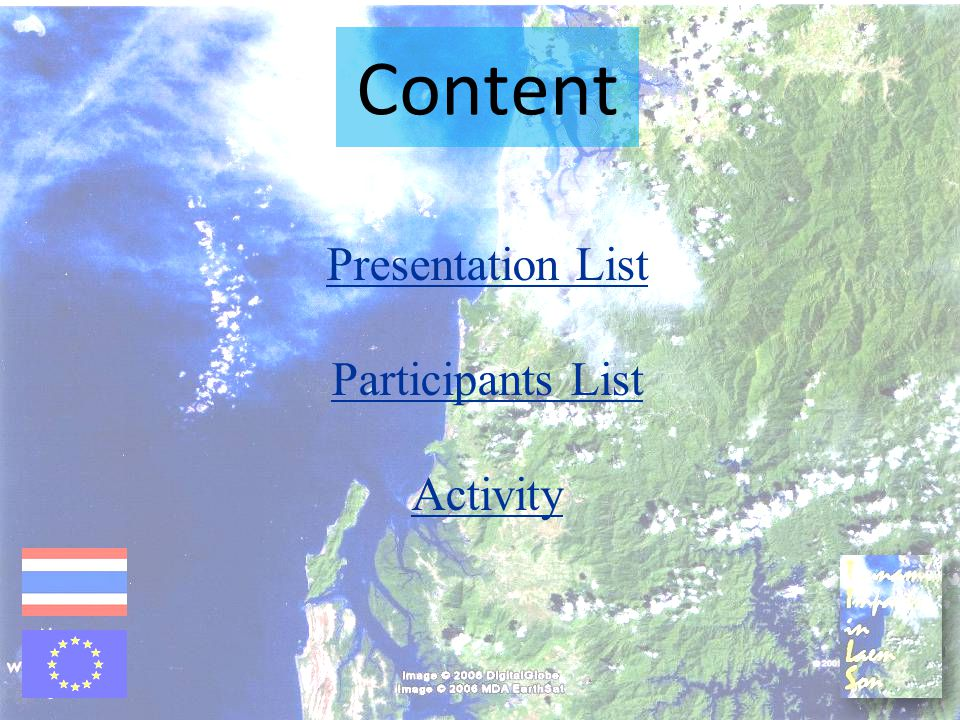 Content Presentation List Participants List Activity