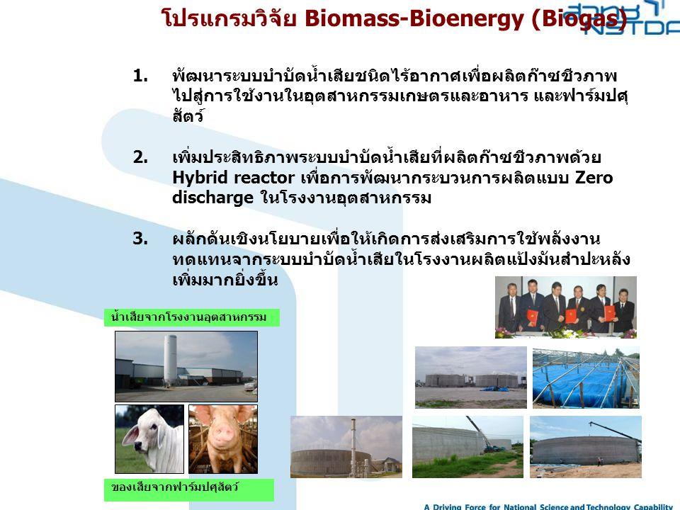 โปรแกรมวิจัย Biomass-Bioenergy (Biogas)