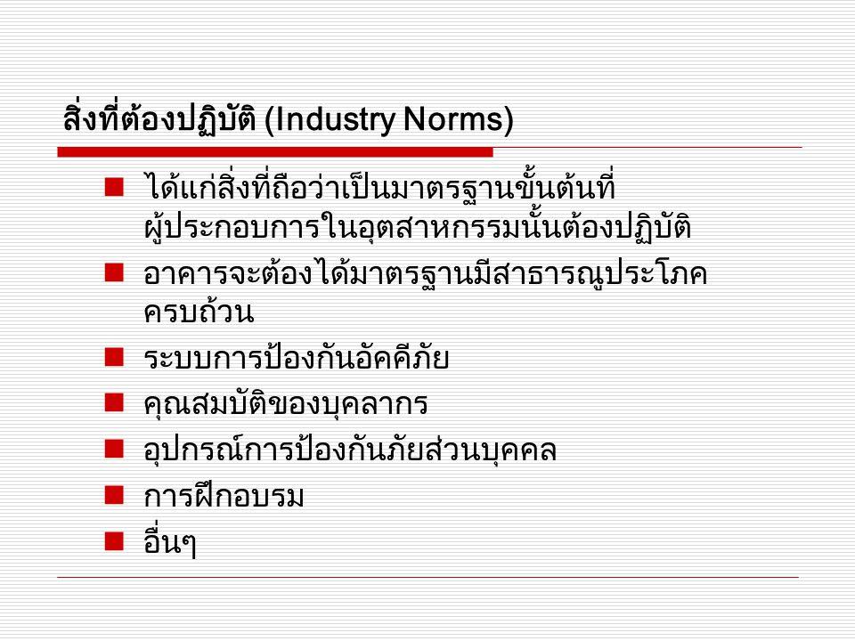 สิ่งที่ต้องปฏิบัติ (Industry Norms)