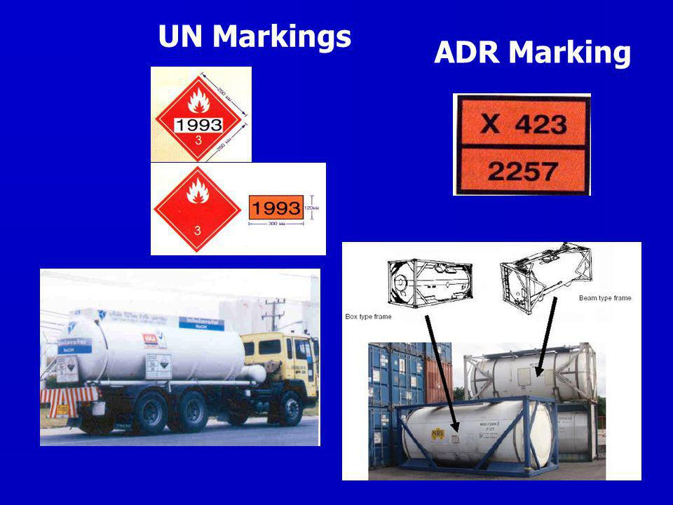 UN Markings ADR Marking