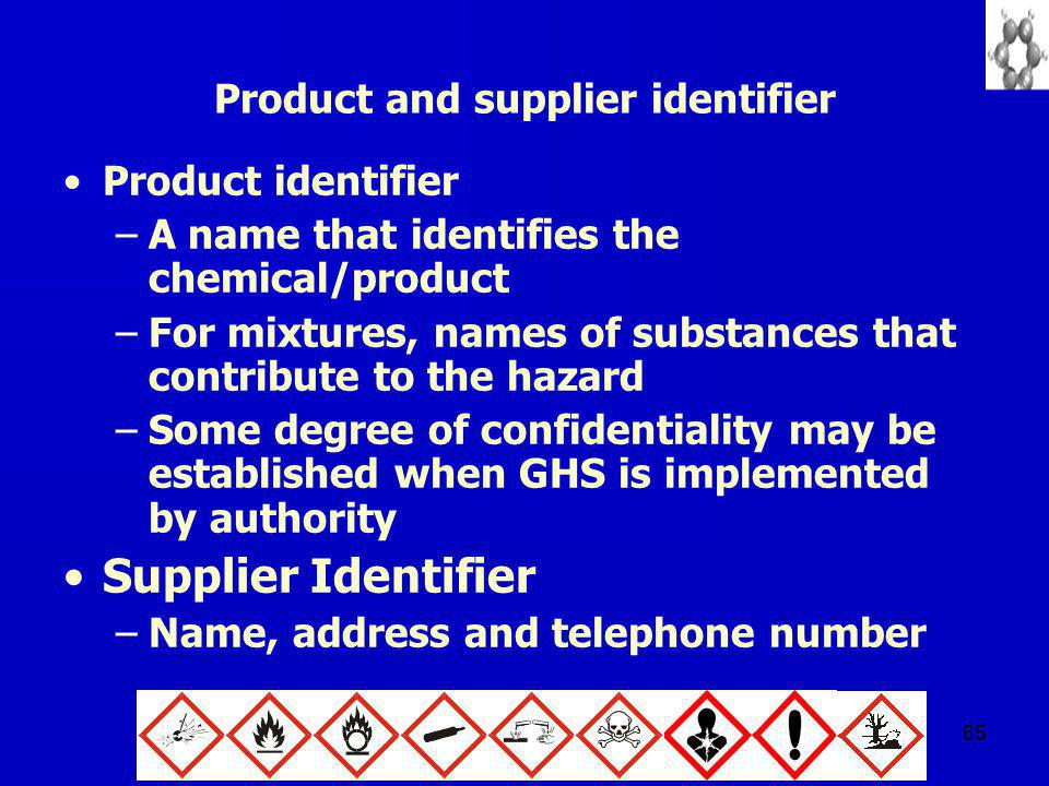 Product and supplier identifier