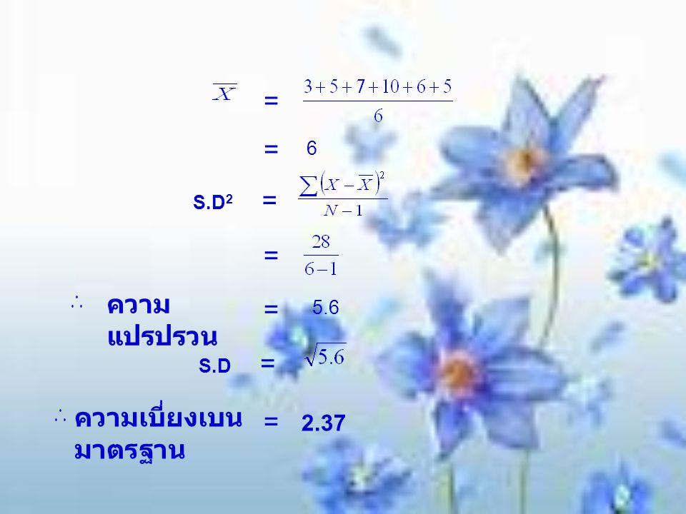 ความเบี่ยงเบนมาตรฐาน = 2.37