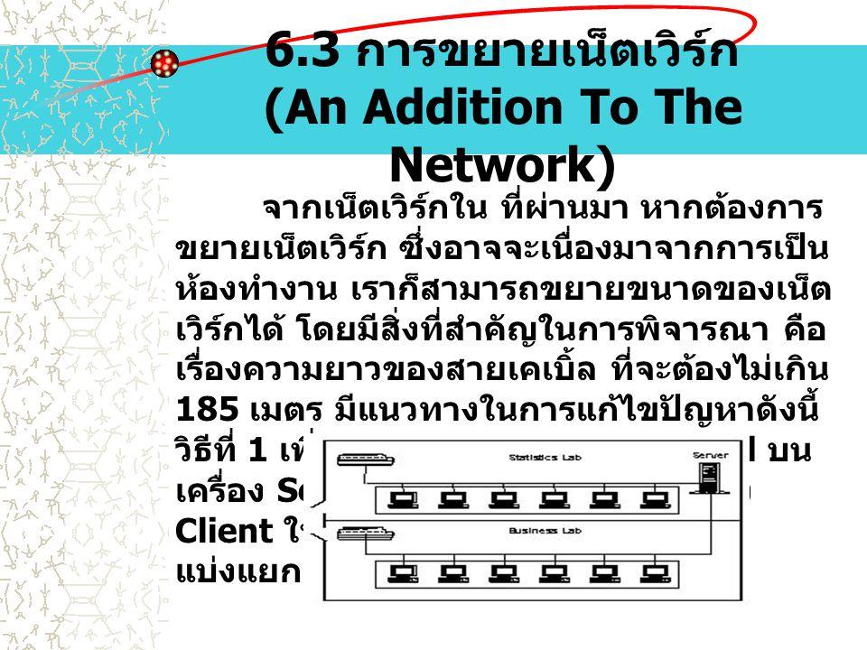 6.3 การขยายเน็ตเวิร์ก (An Addition To The Network)