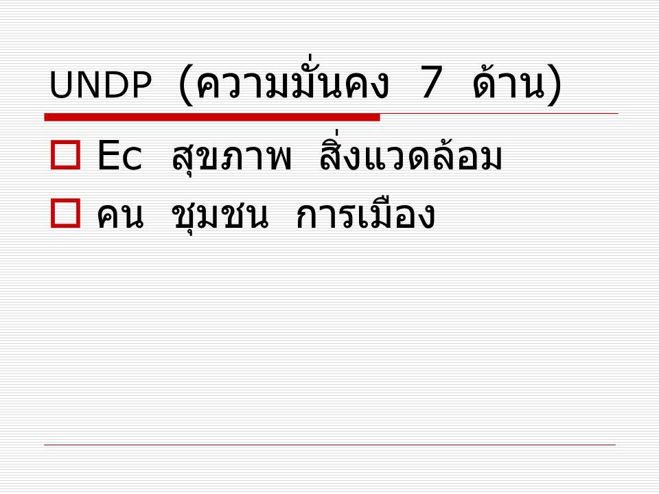 UNDP (ความมั่นคง 7 ด้าน)