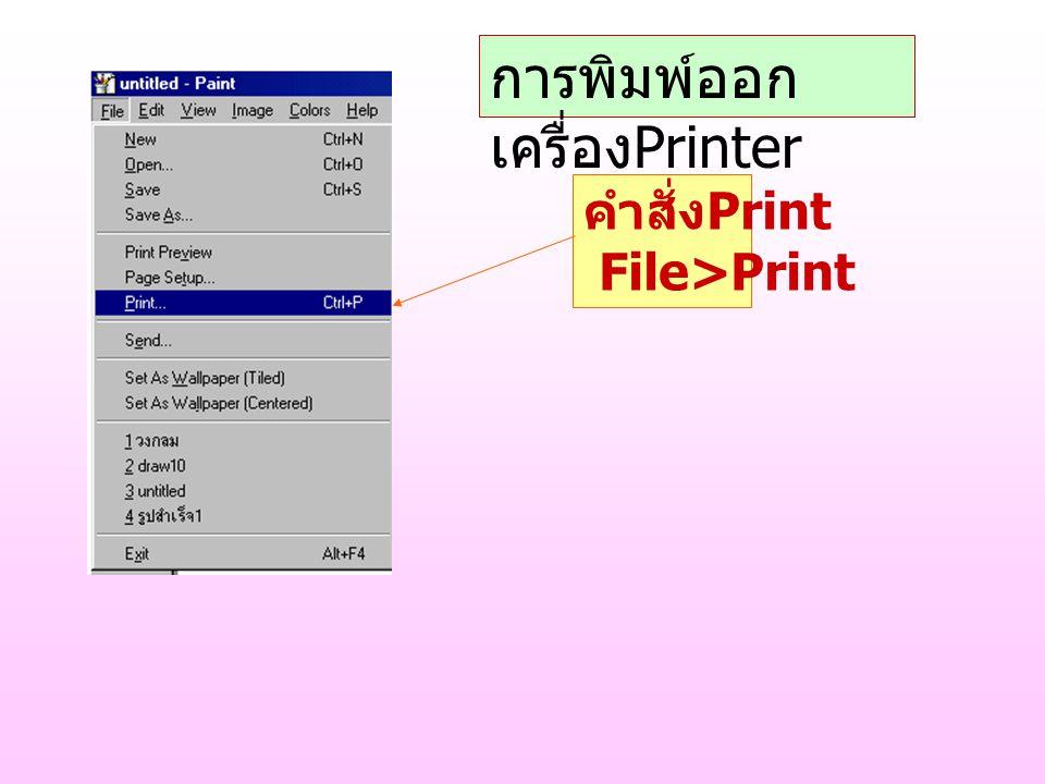 การพิมพ์ออกเครื่องPrinter
